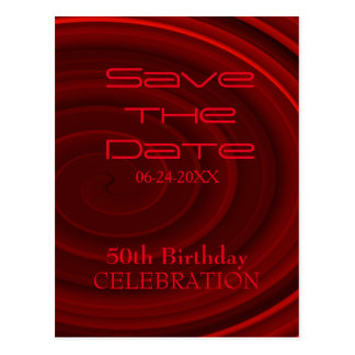 50th birthday save the date postcards | zazzle, Einladung