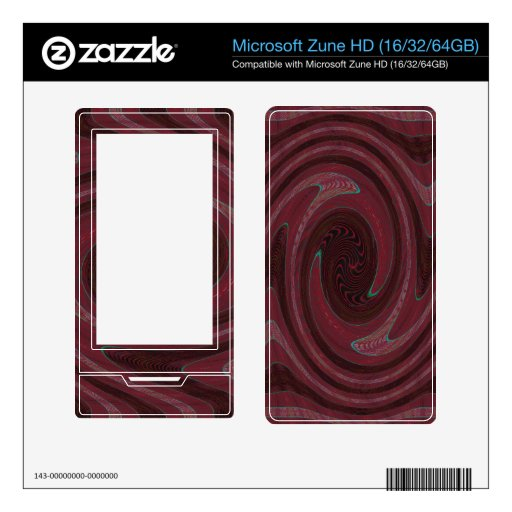 red vortex abstract skin for zune HD