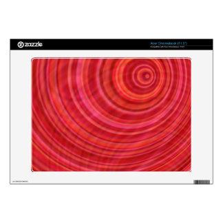 Red vortex acer chromebook decal
