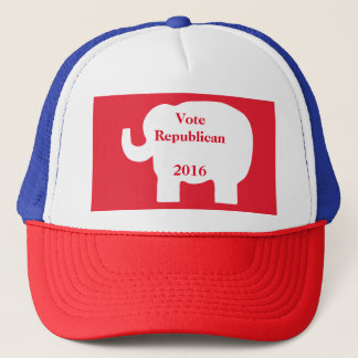 Red Vote Republican 2016 Election Elephant Trucker Hat