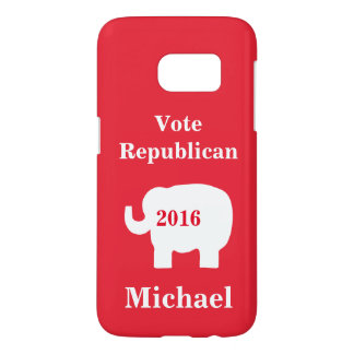 Red Vote Republican 2016 Name Personalized Red Samsung Galaxy S7 Case