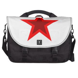 Red W Star Laptop Computer Bag