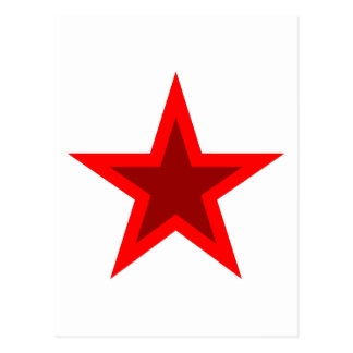 Red W Star Postcard