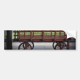 Red Wagon Bumper Sticker