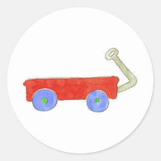 Red Wagon Classic Round Sticker