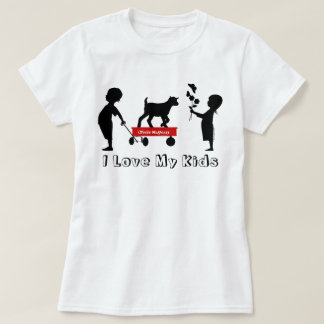 Red Wagon Cute Goat Silhouette Totes MaGoats T-Shirt