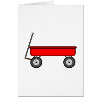 Red Wagon Drawing Card