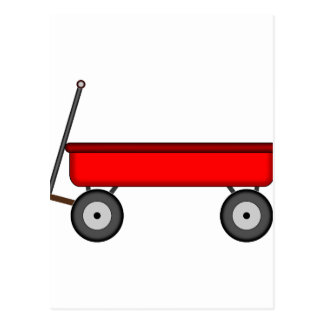 Red Wagon Drawing Postcard
