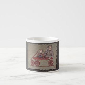 Red Wagon, Rabbit & Dolls Espresso Cup