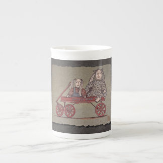 Red Wagon, Rabbit & Dolls Tea Cup