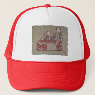 Red Wagon, Rabbit & Dolls Trucker Hat