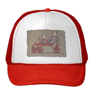 Red Wagon, Rabbit & Dolls Trucker Hat