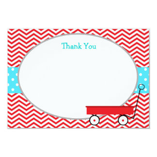 Red Wagon Thank You Cards Invite