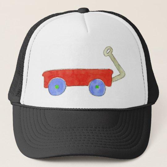 Red Wagon Trucker Hat