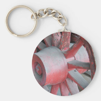 Red Wagon Wheel Keychain