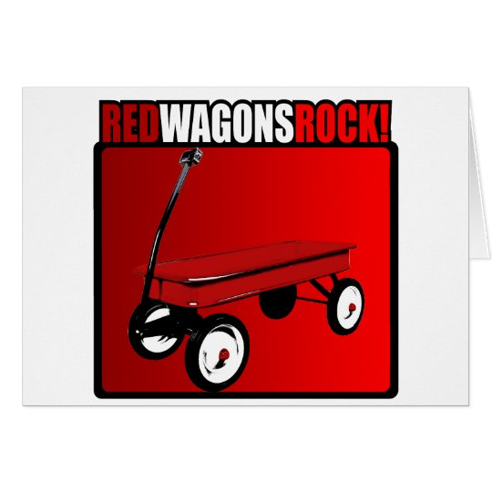 Red Wagons Rock! Card