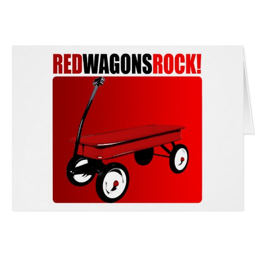 Red Wagons Rock! Greeting Card