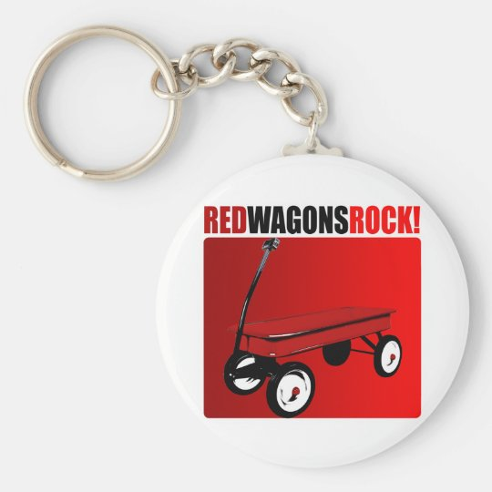 Red Wagons Rock! Keychain