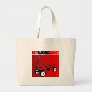 Red Wagons Rock! Large Tote Bag