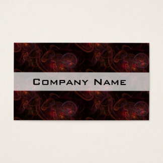 Red Waives Fractal Business Card