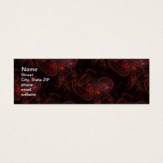 Red Waives Fractal Mini Business Card