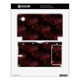 Red Waives Fractal Nintendo DSi XL Decals