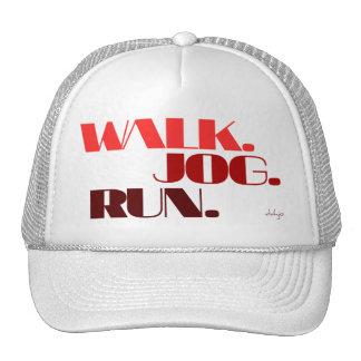 RED WALK JOG RUN (font CHUNKY) Trucker Hat