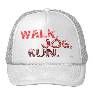 RED WALK JOG RUN (font SCRIBBLE) Trucker Hat