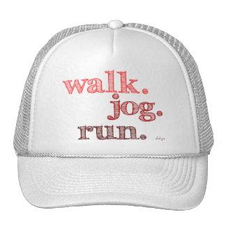 RED WALK JOG RUN (font SHADED) Trucker Hat