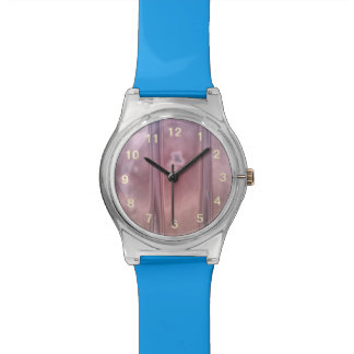 Red wall abstract pattern wristwatch