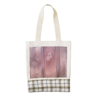 Red wall abstract pattern zazzle HEART tote bag