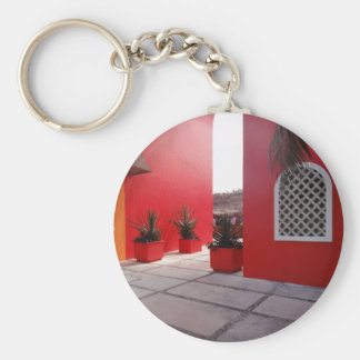 Red Wall Basic Round Button Keychain