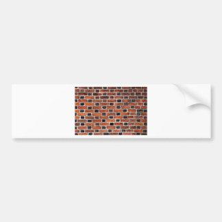 red wall bumper sticker