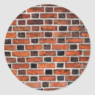 red wall classic round sticker