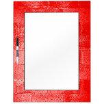 Red Wall. Digital Art. Dry-Erase Board