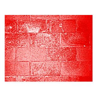 Red Wall. Digital Art. Postcard