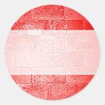 Red Wall. Digital Art. Round Stickers