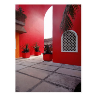 Red Wall Mexico Postcard