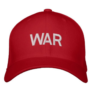 red war hat. embroidered baseball cap