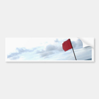 Red warning flag bumper sticker