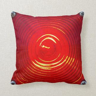 Red Warning Light Throw Pillow