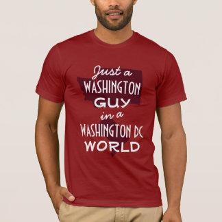Red Washington State Guy in DC T-Shirt
