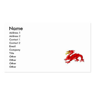 Red Water Dragon Business Card