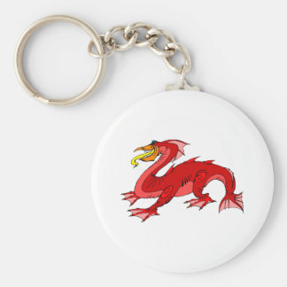 Red Water Dragon Keychain