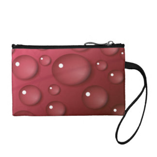 Red Water Drop Pattern Coin Wallet