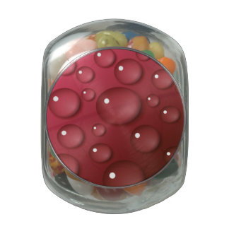 Red Water Drop Pattern Jelly Belly Candy Jar