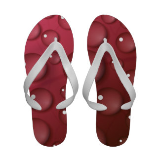 Red Water Drop Pattern Sandals