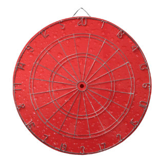 Red Water Drops Dartboard