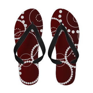 Red Water Drops Sandals