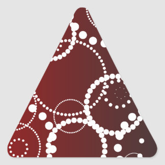 Red Water Drops Triangle Sticker